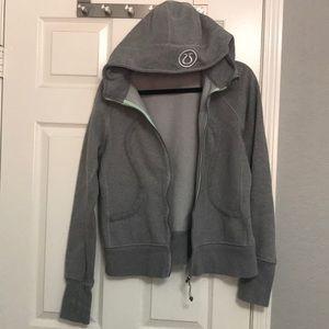 Lululemon scuba hoodie jacket sweatshirt 12 gray